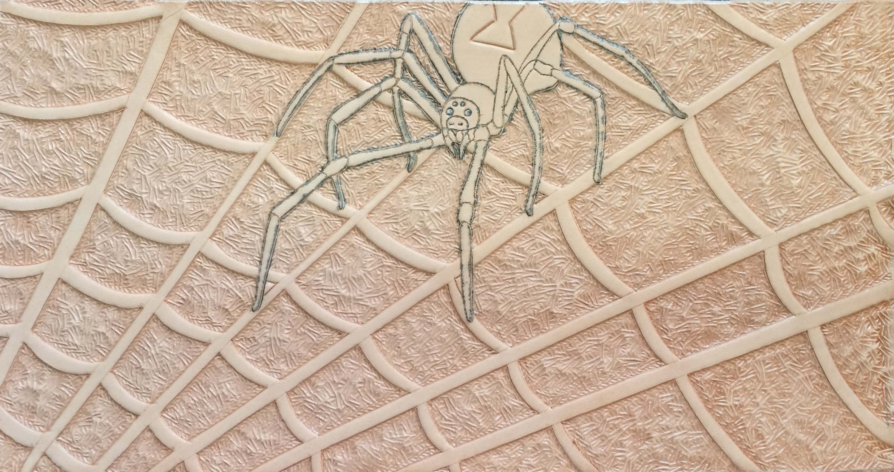 spider mug carved